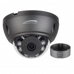 Speco HTD5TG 5 Megapixel HD-TVI Dome Analog Camera, IR, Grey housing, Included Junction Box, TAA, 2.8mm Lens