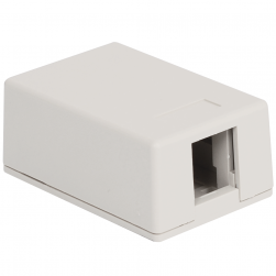 ICC IC107BC1WH 1-Port Surface Mount Box, 25-Pk - White