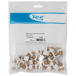 ICC IC107BGDWH 3GHz Gold Plated F-Type Module 25 PK