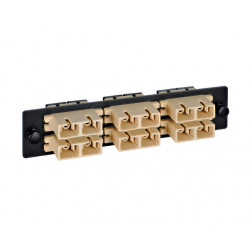 ICC ICFOPC16BK SC Multimode Fiber Optic Adapter Panel 6-Duplex Beige