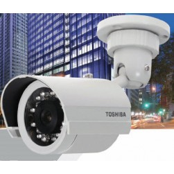 Toshiba IK-7100A-3.6 Indoor/Outdoor Day/Night IR Bullet Camera with 3.6 mm Lens