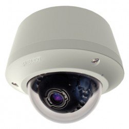 Pelco IME319-1EP 3 Megapixel Pendant Mount Environmental Mini Dome IP Camera, 3-9 mm Lens, Light Gray