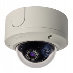 Pelco IME319-1ES 3 Megapixel Surface Mount Environmental Mini Dome IP Camera, 3-9 mm Lens, Light Gray