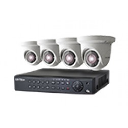 4 Network Security Camera Kit Features 4MP Day Night Domes & Free NVR