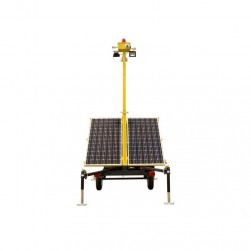 InVid INVID-4000S1C Network Solar Surveillance Tower with Two IR PTZ Camera