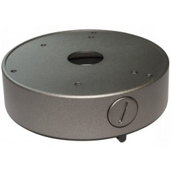 Speco JB03TG Large Round Junction Box, Dark Grey