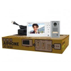 """Aiphone JOS-1V2 7"""" Screen with Touch Buttons, Hands-Free 1 X 2 Color Video Set (JO-1MD, JO-DV, PS-1820UL)"""