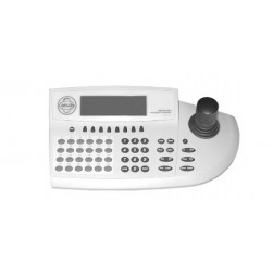 Pelco KBD960-EU Full-Function Desktop Variable-Speed Keyboard, White