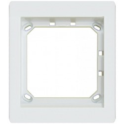 Alpha MT1W 1Hx1W Module Panel Frame - White
