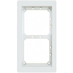 Alpha MT2W 2Hx1W Module Panel Frame - White