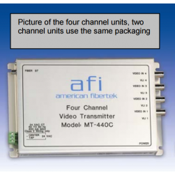 American Fibertek MT-220C Two Channel FM Video Module Transmitter