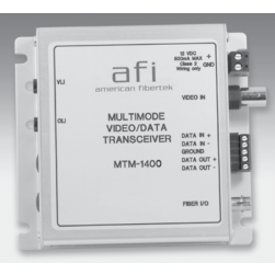 American Fibertek MTM-1400 1 Fiber Video & RS422 Module Transmitter