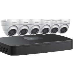 Dahua N484E62 6x4 Megapixel Eyeball Network Cameras with One (1) 8 Channel 4K NVR, 2 TB