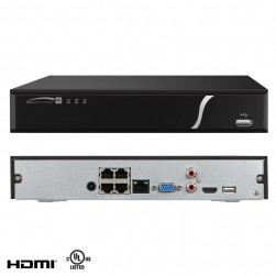 Speco N4NXL2TB 4 Channel Plug & Play Network Video Recorder with Built-In PoE, 2TB