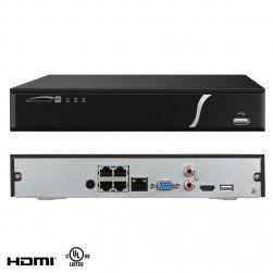 Speco N4NXL3TB 4 Channel Plug & Play Network Video Recorder with Built-In PoE, 3TB