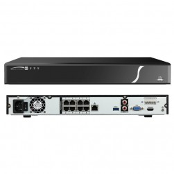 Speco N8NXP3TB 8 Channel Network Video Recorder with 8 Built-In PoE+ Ports, 3TB
