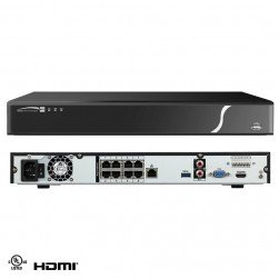 Speco N8NXP3TB 8 Ch 4K Plug & Play NVR with Built-in PoE+ Switch 3TB