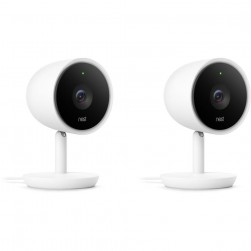 Nest NC3200US Google Nest Cam IQ Indoor Wireless Security Camera, 2-Pack