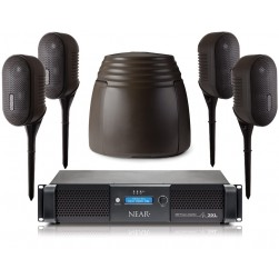 Bogen NEARSCAPES-4-1DSP Complete Outdoor Audio Speaker System with 350 WPC DSP Amplifier