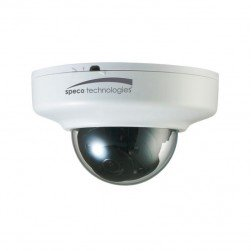 Speco O3FDP9 3 Megapixel Indoor Network IR Flexible Intensifier Mini-Dome Camera, 2.8mm Lens, White