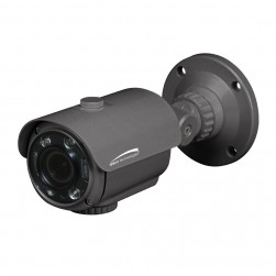 Speco O4FB8M 4 Megapixel Outdoor Network IR Intensifier Bullet Camera, 2.8-12mm Lens, Dark Grey