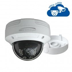 Speco O4VLD5 4 Megapixel Network IR Outdoor Dome Camera with Junction Box, 2.8mm Lens, White Housing