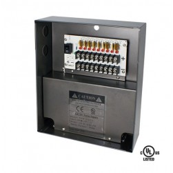Speco P4W5DUL 4 Channel 12VDC UL Listed Power Supply, 5A Output