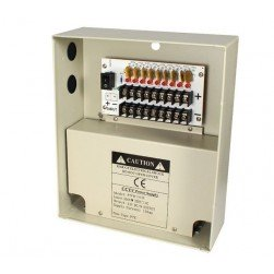 Speco P4W5D 4 Channel 12VDC Camera Power Supply, 5A Output