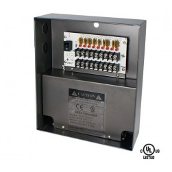 Speco P9W10DUL 9 Channel 12VDC UL Listed Power Supply, 10A Output