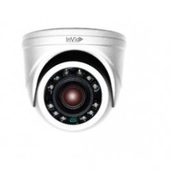 InVid PAR-A5MINITI28W 5 Megapixel HD-TVI, HD-AHD, HD-CVI, Analog Outdoor IR Dome Camera, 2.8mm Lens