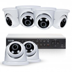 Cantek Plus PR6D2TB 6 Camera HD TVI Dome Security Camera System
