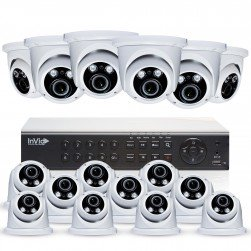 Cantek Plus PR16D4TB All Purpose 16 Camera TVI Dome Camera System