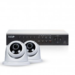 Cantek Plus PR2D1TB All Purpose Dome Security 2 Camera System