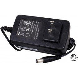 Speco PSDC24 12VDC 2-Amp Plug-in Power Supply, UL Listed