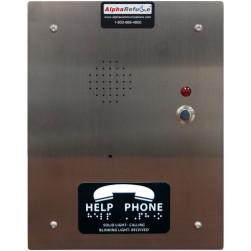 Alpha RCB2100SFR Refuge Call Box-Flush-Stainless Steel-24V