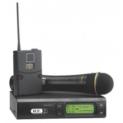 Bosch RE-2-COMBO-C-A Wireless Combo Microphone System Includes BPU-2 and HTU2D-267a Transmitters, RE-2 Receiver, ULM-21 Uni-Directional Microphone, A Band