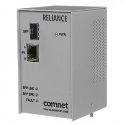 Comnet RLMCSFPPOEHO Electrical Substation-Rated Media Converter POE
