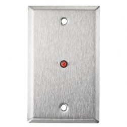 """Alarm Controls RP-28FLASHING Single Gang Stainless Steel Wall Plate with 1/4"""" Flashing LED"""