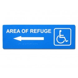 Alpha RSN7047L Refuge Arrow Sign-Left-Blue