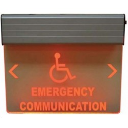Alpha RSN7050ED 120V Emergency Communication Sign, Red, Double Sided