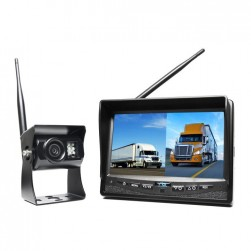"RVS Systems RVS-2CAM-A-02 Wireless Backup Camera with 7"" Dual Screen Display, Left Side Camera, 2.1mm Lens"