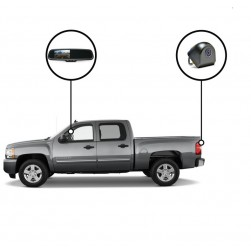 RVS Systems RVS-718500-08 480 TVL Tailgate Camera, Mirror Monitor with Auto Dimming, Compass and Temperature, 33ft Cable