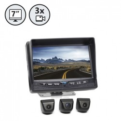 RVS System RVS-Mv3077N Backup Camera System - Three Camera Setup