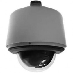 Pelco S6230-ESGL1US 2 Megapixel Spectra Enhanced Low Light HD Pendant Environmental Network Stainless Steel PTZ Dome Camera, 30X, Clear, Gray, US