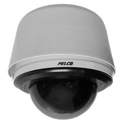 Pelco S6230-EGL1 2 Megapixel Spectra Enhanced Low Light HD Pendant Environmental Network PTZ Dome Camera, 30X, Clear, Gray