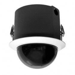 Pelco SD423-F0-X 540 TVL Indoor White Smoke Analog PTZ Dome Camera, 23X Lens, PAL