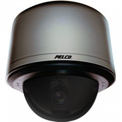Pelco SD423-PG-E0-X 540 TVL Analog Smoked Indoor /Outdoor Dome Camera, 23X, Light Gray, PAL