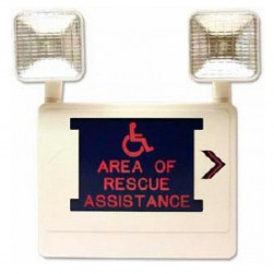 Alpha SI004 Single Sided Illuminated Area of Rescue Assistance Sign