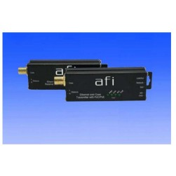 AFI SLCT-1-PoE Ethernet over Coax Transmitter with PoE and PoC