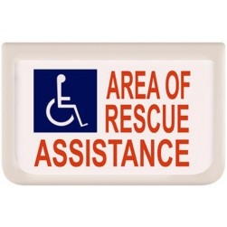 Alpha SN-B42S Rescue Assistance Signage-Electr-Single